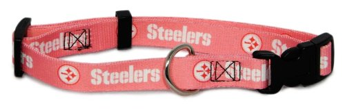 Hunter MFG Pittsburgh Steelers Pink Dog Collar, Extra Large