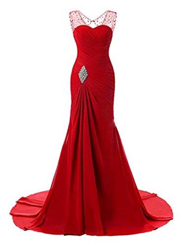 Les Sangles Des Femmes Angela Robes De Soirée Longues Robes Formelles Sirène De Fête De Mariage Bal Rouge
