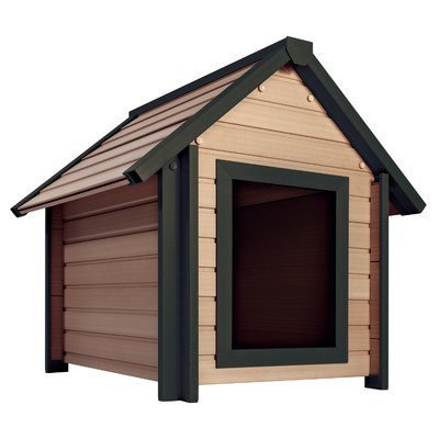 ecoChoice Bunkhouse Style Dog House Size: Large (34.8″ H x 31.1″ W x 36.2″ L)