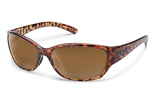 Suncloud Duet Sunglasses, Tortoise Frame/Brown Polycarbonate Lens, One - Action Sunglasses Optics