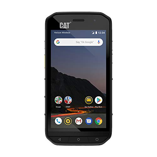 CAT PHONES S48c Unlocked Rugged Waterproof Smartphone, Verizon Network Certified (CDMA), U.S. Optimized (Single Sim) with 2 Year Warranty Including 2 Year Screen Replacement CS48SABNAMUNOD