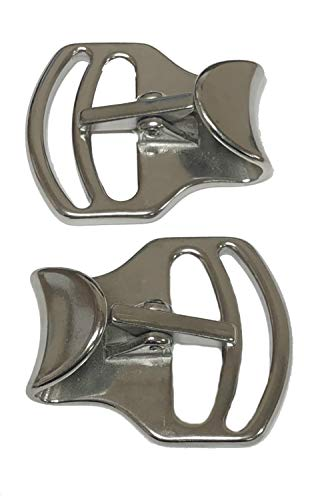 Leather Steel Girth - 2 Pack of Two Inch Tackaberry Buckles, Heavy Duty Solid Stainless Steel, 2