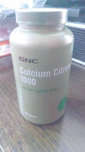 GNC citrate de calcium 1000, comprimés, 180 ch