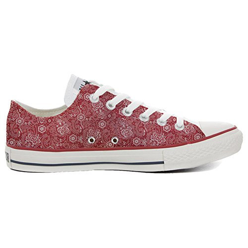 Converse All Star Customized - personalisierte Schuhe (Handwerk Produkt customized)Red Paisley