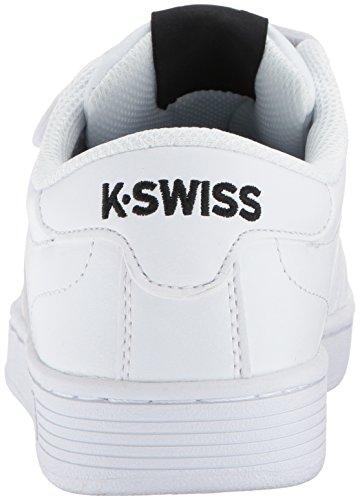 K-swiss Womens Hoke Sneaker Da Donna Con Cinturino 3 Fili Bianca / Nera