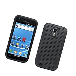 [Buy World] for Samsung Hercules/galaxy S Ii T-mobile/t989 Fishnet Hybrid Case Black Silicone + Black Pc