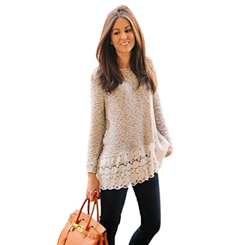 Gillberry Women Long Sleeve Shirt Lace Blouse Slim Knitwear Tops T Shirt (XL, - Sunglasses Hilo