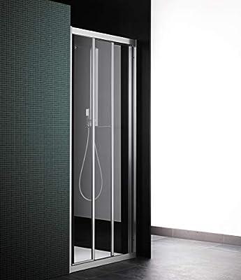 Cabina de ducha con puerta corredera, 3 puertas, máx. 111 cm ...