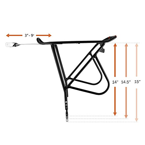 Ibera Bike Rack – Bicycle Touring Carrier with Fender Board, Frame-Mounted for Heavier Top & Side Loads, Height Adjustable for 26''-29'' Frames by Ibera (Image #7)