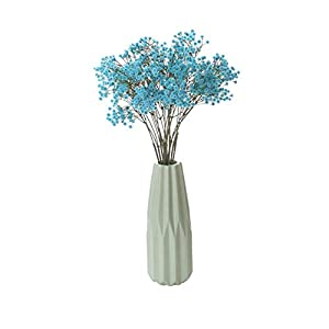 MARJON FlowersGypsophila Artificial Flowers 26'' PU Baby Breath Artificial Flowers for Wedding Party Home Decor, Blue 107