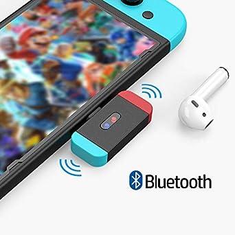 NetDot Nintendo Switch Adaptador Bluetooth con Conector USB-C,Compatible Sony,Bose,PC y Auriculares Bluetooth