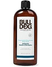 Bulldog Skincare Peppermint & Eucalyptus Shower Gel Body Wash for Men, 500 Milliliters