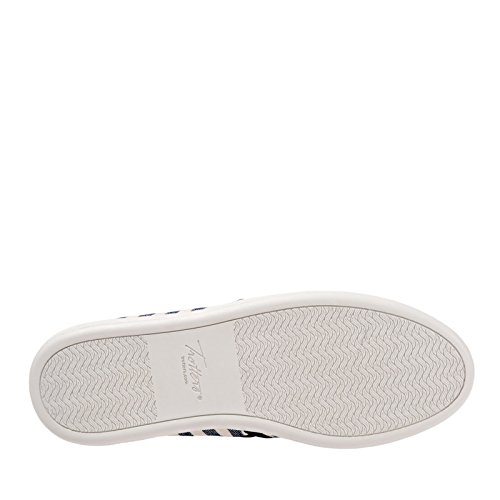 grey Americana Flat Us Striped Black Trotters Perforated cream Black 7 Canvas Sole Women's M 5TEw1q1X