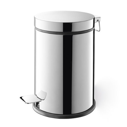 Zack 40066 3 L Mirror Polished Finish Vasca Pedal Bin, 10.63 by 7.1-Inch by Zack