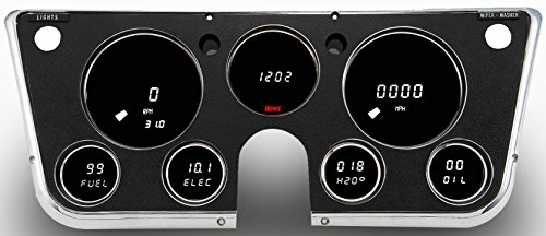 1967-1972 Chevrolet Truck LED Digital Dash Replacement Panel (White)
