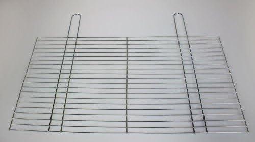 Grille de cuisson, grill, grille, ersatzgrill, ersatzrost, bLACK kNIGHT bARBECUES grille de gril kaminrost ronde, avec roulettes avec tiroir à braises 60 x 30 cm