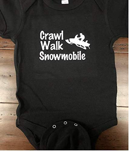 crawl walk snow mobile baby one piece infant snow baby bodysuit ()