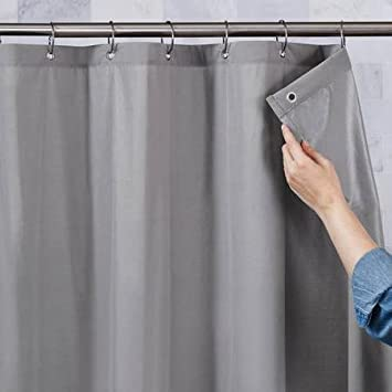 grey shower curtain liner. Better Homes and Gardens Ultimate Shield Fabric Shower Curtain Liner  Grey Amazon com