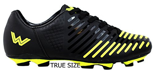 Image of the Walstar Men's Sport Flexible Athletic Free Running Light Weight Indoor/Outdoor Lace up Soccer Shoes