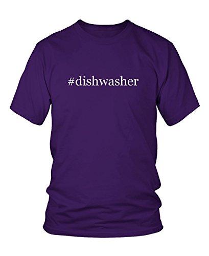 Price comparison product image #dishwasher - Hashtag Men's Adult Short Sleeve T-Shirt , Purple, Medium