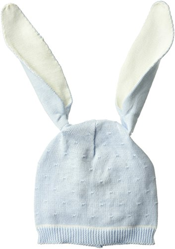 Mud Pie Baby Boys Knit Bunny Ear Hat, Blue, 0-6 (Easter Bunny Beanie)