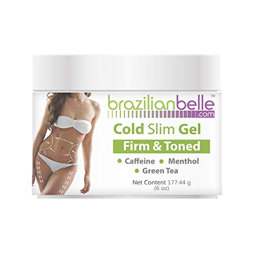 Cellulite Cold Slimming Gel with Caffeine and Green Tea Extract- Reduce Appearance of Cellulite, Stretch Marks, Firming and Toning, Improves Circulation - Quick Absorption- Cryo Gel (1 Jar)