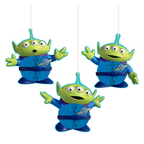 Toy Story 4 Aliens Honeycomb Decorations, 3 pack