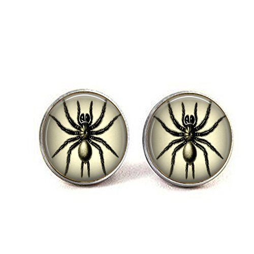Black Spider Earrings - Spider Jewelry - Spider Earrings - Black Widow Spider - Halloween Costume Earrings - Witchy Jewelry - Arachnid Jewely