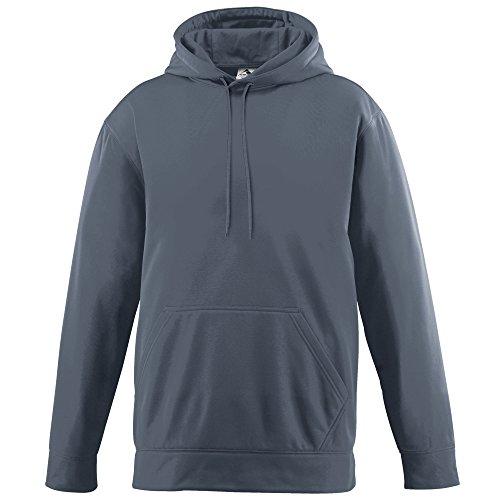 (Augusta Sportswear 5505 Men's Wicking Fleece Hooded Sweatshirt, XX-Large, Graphite)