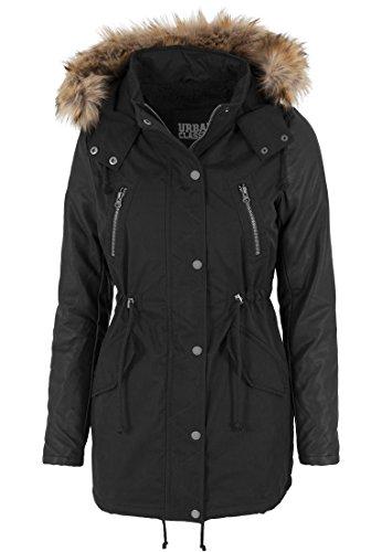 Sleeve Schwarz imitazione Nero giacca Classics donna Urban Leather da Parka xXwZA