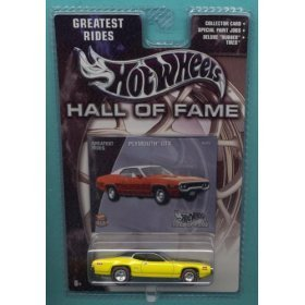 Hot Wheels 2002 Hall of Fame Greatest Rides 1:64 Scale 35th Anniversary Yellow Plymouth GTX Die Cast - Hall Plymouth