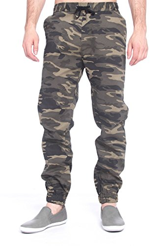 free-planet-mens-stretch-cotton-twill-joggers-with-elastic-waist-olive-camo-l