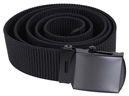 Rothco Nylon Web Belt - Black Webbing, 44, Black