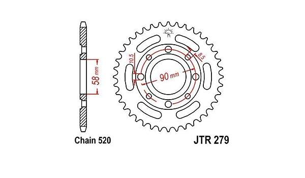 R279 Corona Plato transmision Trasero Talla 30
