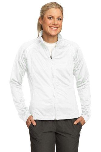 - Sport-Tek - Ladies Tricot Track Jacket. - White/White - L