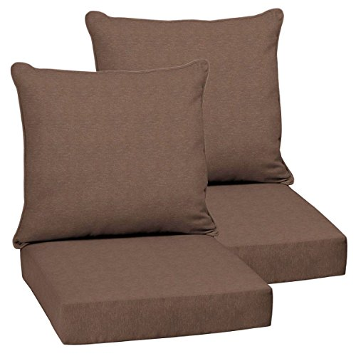 - Set of 2 Deep Seating Outdoor Dining Chair Cushions 24
