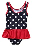 ATTRACO Toddler Polka dot Swimsuit one Piece
