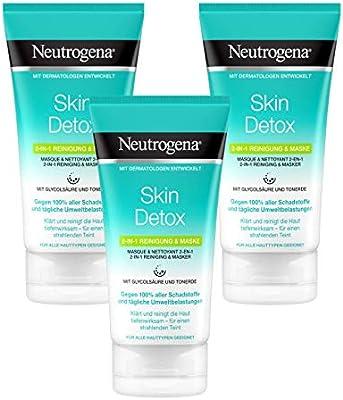 Neutrogena Skin Detox 2 en 1 Mascarilla Y Limpiador - 150 ml ...