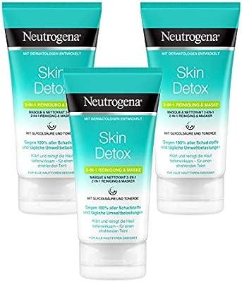 Neutrogena Skin Detox 2 en 1 Mascarilla Y Limpiador - 150 ml.
