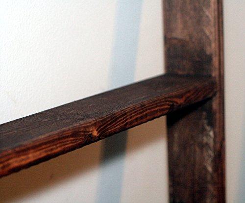 Rustic Ladder, 60'' Reclaimed Wood Blanket Ladder, Quilt Rack, Vintage Ladder, Towel Rack, Wood Shelf by The Appalachian Artisans