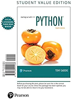 Starting out with python 4th edition 0000134444329 computer starting out with python student value edition 4th edition fandeluxe Images