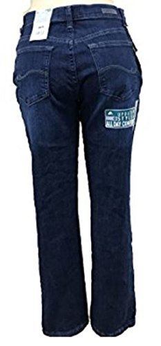 Lee Platinum Label Relaxed Fit Straight Leg Jeans, Authentic Blue Wash, 6 Medium ()