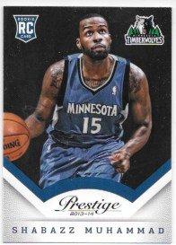 Shabazz Muhammad 2013-14 Prestige Minnesota Timberwolves Rookie Card #174
