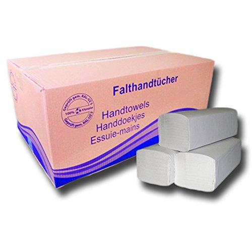 natur Falthandt/ücher 5000 Blatt 1-lagig Papiert/ücher Handtuchpapier 5.000 Blatt-Papierhandt/ücher-ZZ 25 x 23 cm