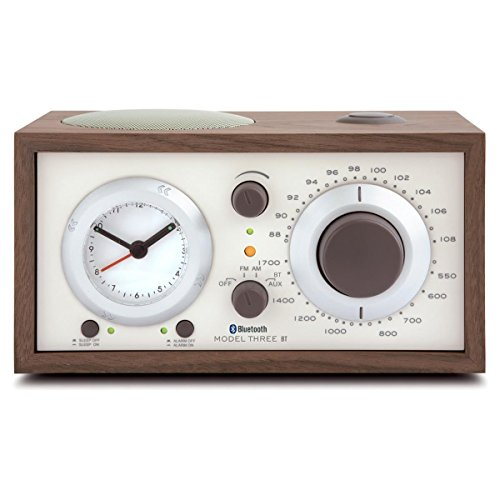 Tivoli Audio - Model Three BT AM/FM Clock Radio with Bluetooth - Walnut and Beige