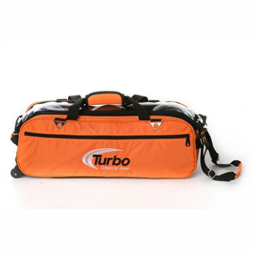 Turbo Express 3 Ball Travel Tote- Orange by Turbo Bowling Grips