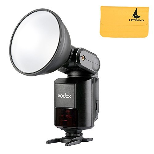 Godox Witstro AD360II-C 360W/s GN80 Portable TTL 2.4G Wireless External Flash Light LCD Panel for Canon Digital Camera + LETWING MicroFiber Clean Cloth - Black by Godox