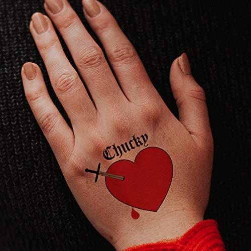 Purple Heart Tattoos (Chucky Heart Temporary Tattoos (Pack of 3))