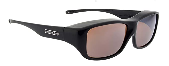 ff99b6f083 Image Unavailable. Image not available for. Color  Jonathan Paul Fitovers  Large Quamby Eternal Black Polarized Amber Sunglasses