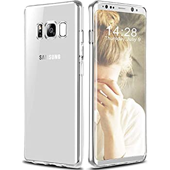 Galaxy S8 Case, GeekZone Galaxy S8 Slim Fit Crystal Clear Case Lightweight Cover Thin Protective Shell Flexible Shock Absorbing Soft Rubber Bumper Case for Samsung Galaxy S8 (Clear)